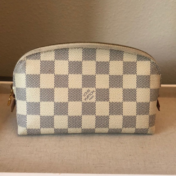 5a9455595c5c Louis Vuitton Handbags - Louis Vuitton Damier Azur small cosmetic pouch